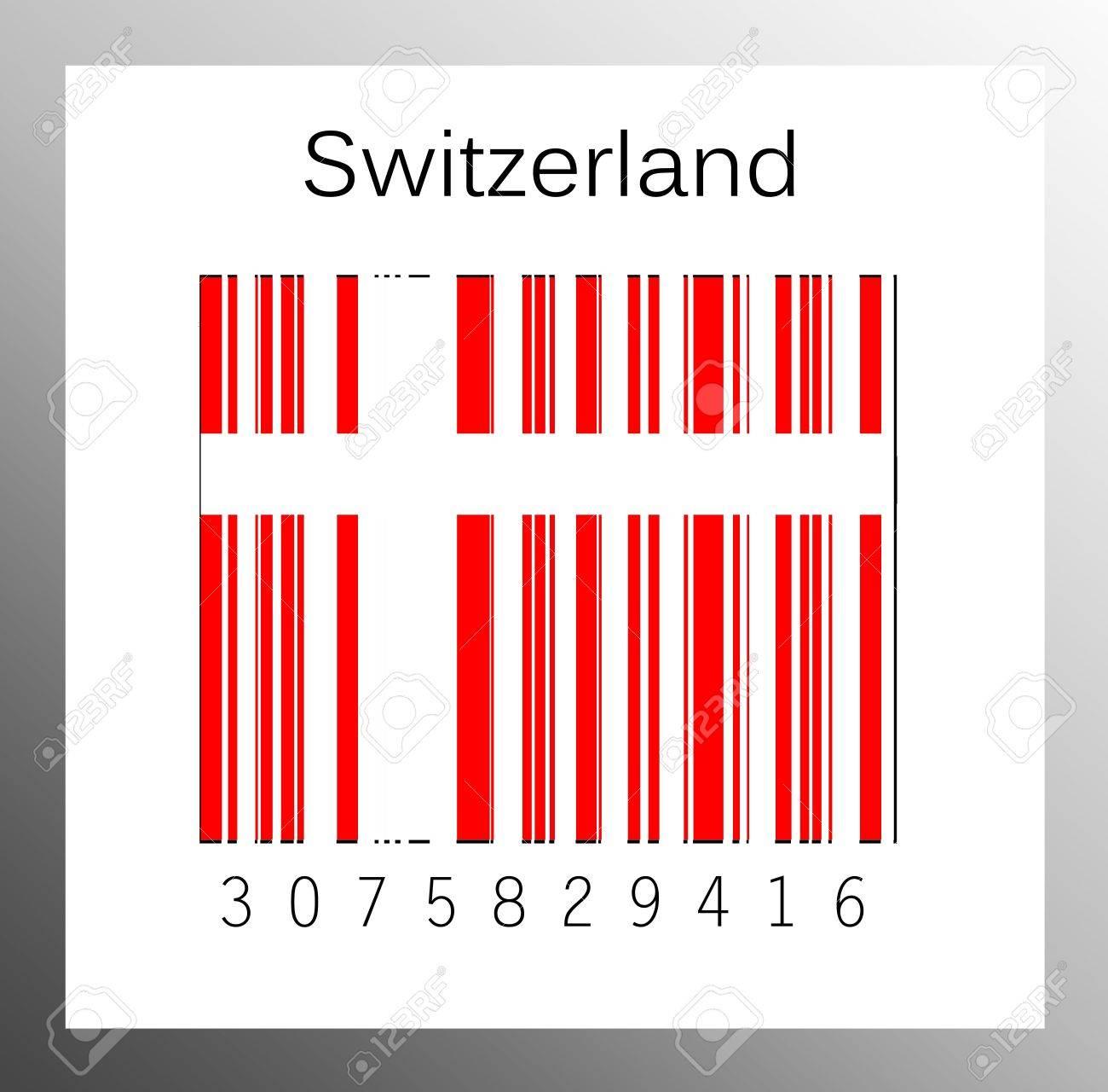 Barcode Switzerland Stock Photo - 15936619