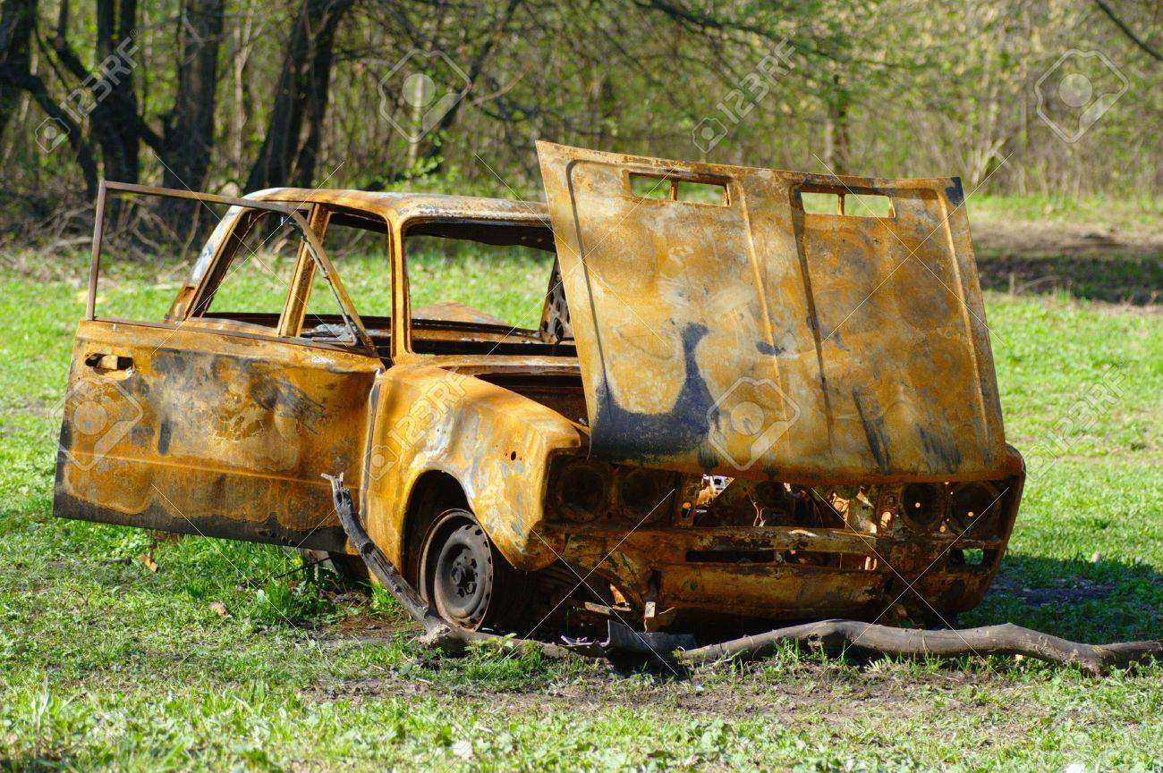 rusty old car in the forest Stock Photo - 2938166