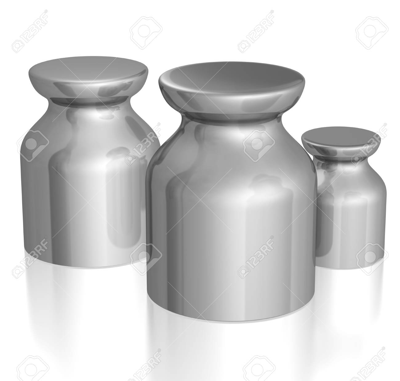 3d rendered weights isolated on white Stock Photo - 4444100