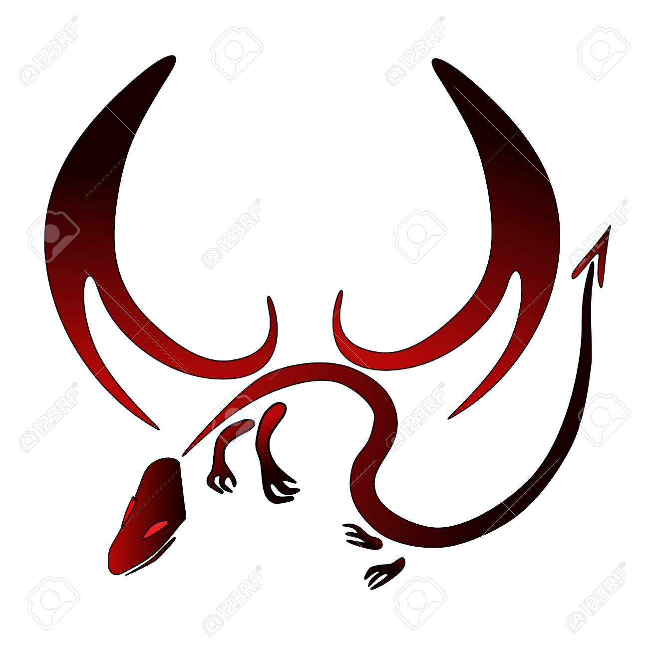 red and black vector dragon symbol Stock Vector - 5302075