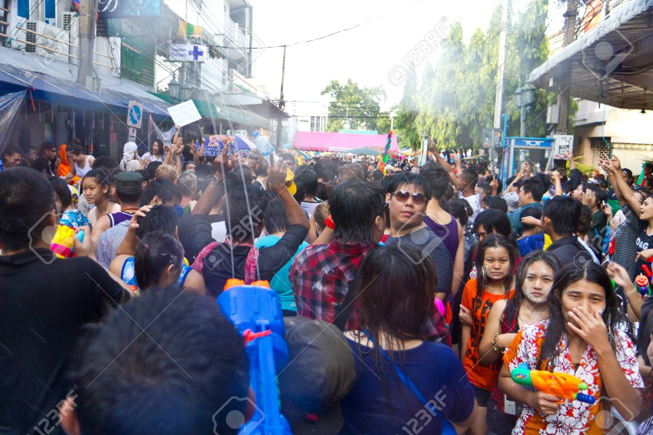 KHAO SAN ROAD, BANGKOK - 2012 APRIL 13: View in Khao San Road 10 Stock Photo - 13154745
