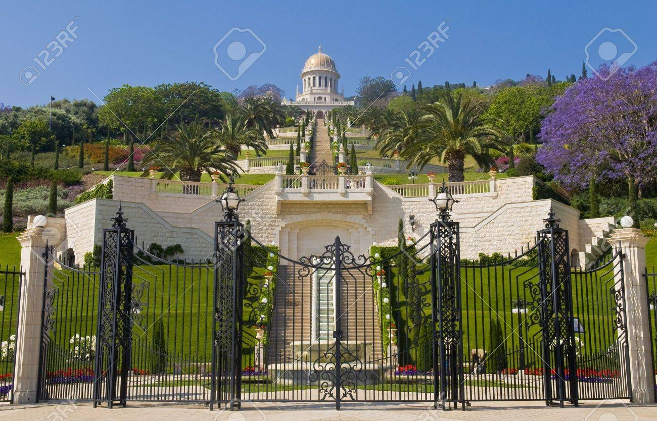 the bahai gardens in haifa north israel stock photo picture and