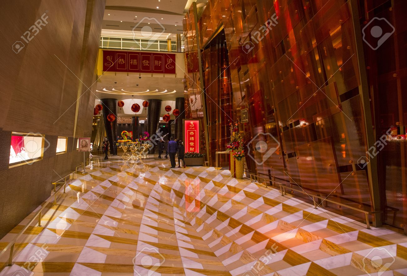 . LAS VEGAS   FEB 14   The interior of Aria Resort and Casino in