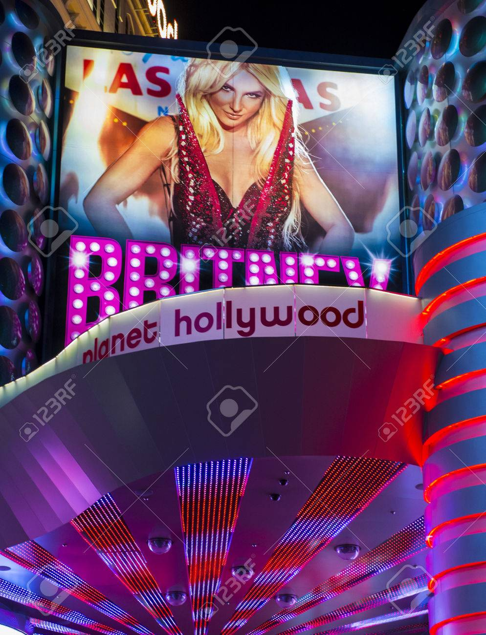 Las Vegas Oct O1 The Britney Spears Show Poster At Planet Stock Photo Picture And Royalty Free Image Image 23232076
