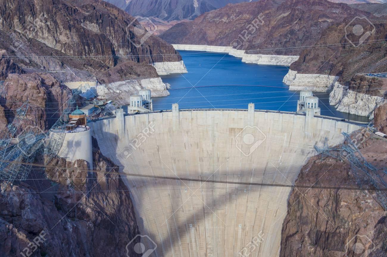 Hoover Dam and Colorado river near Las Vegas, Nevada. - 23232420
