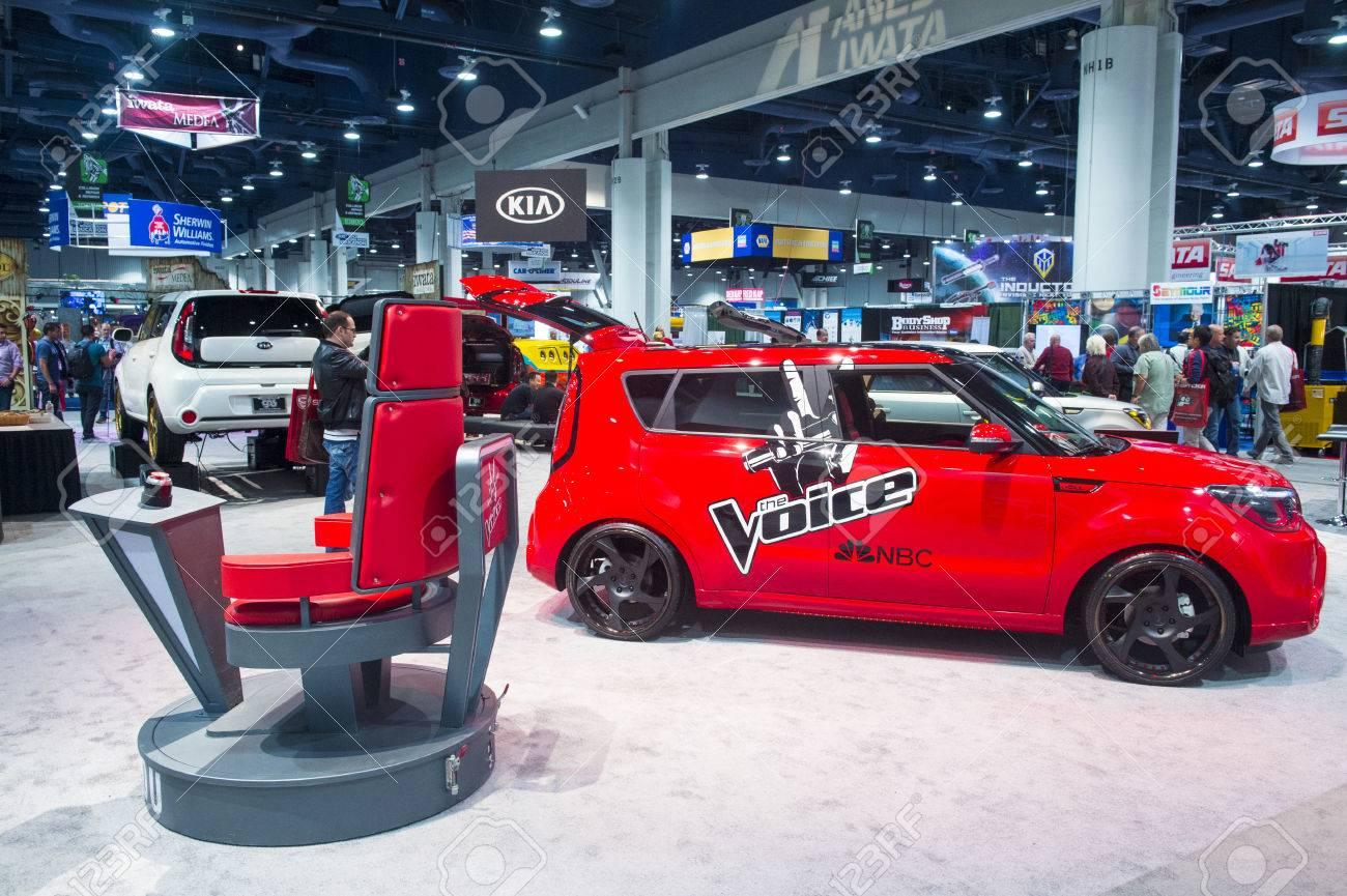 Las vegas nov 05 kia red car with the voice logo at the sema