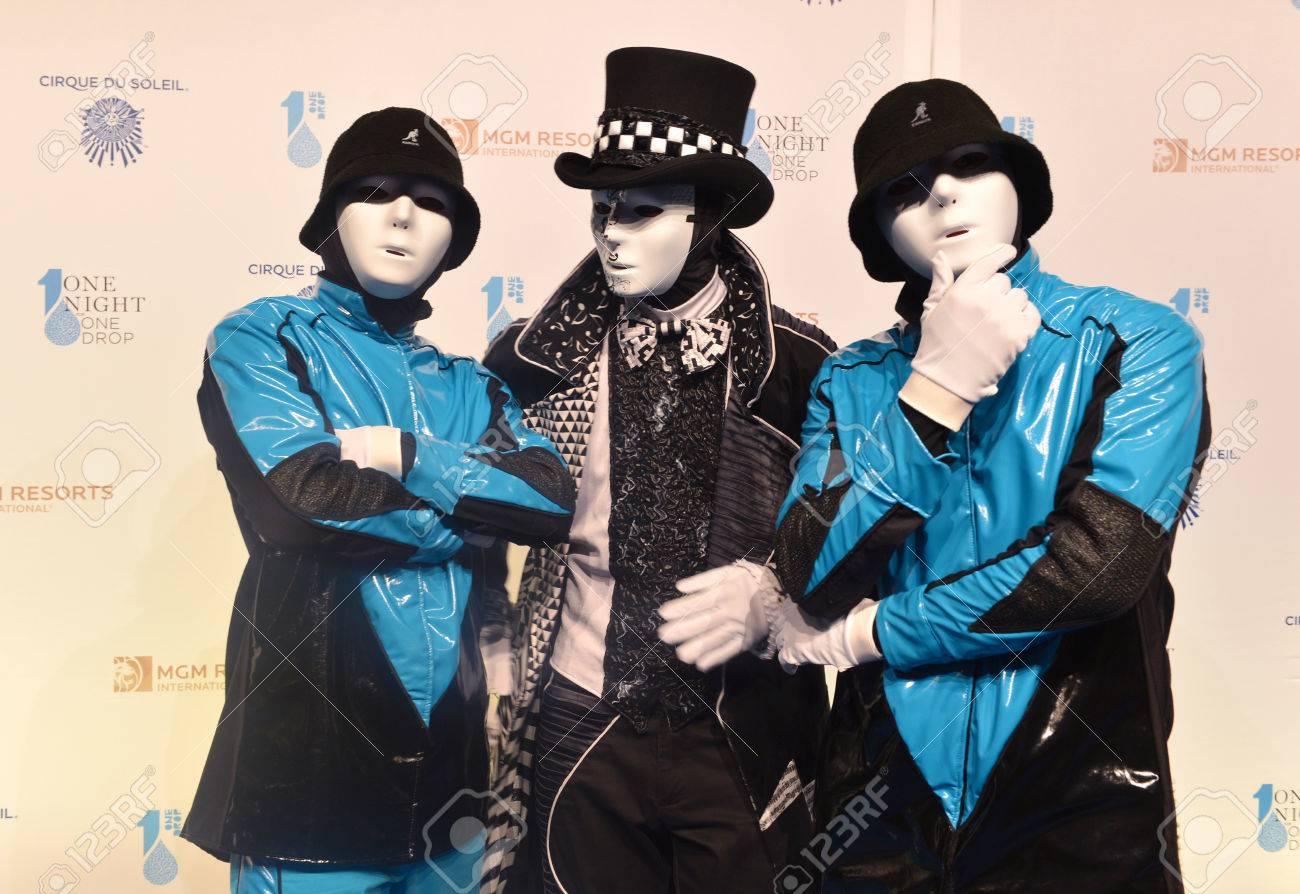 LAS VEGAS - MARCH 21: Members of the Jabbawockeez dance crew