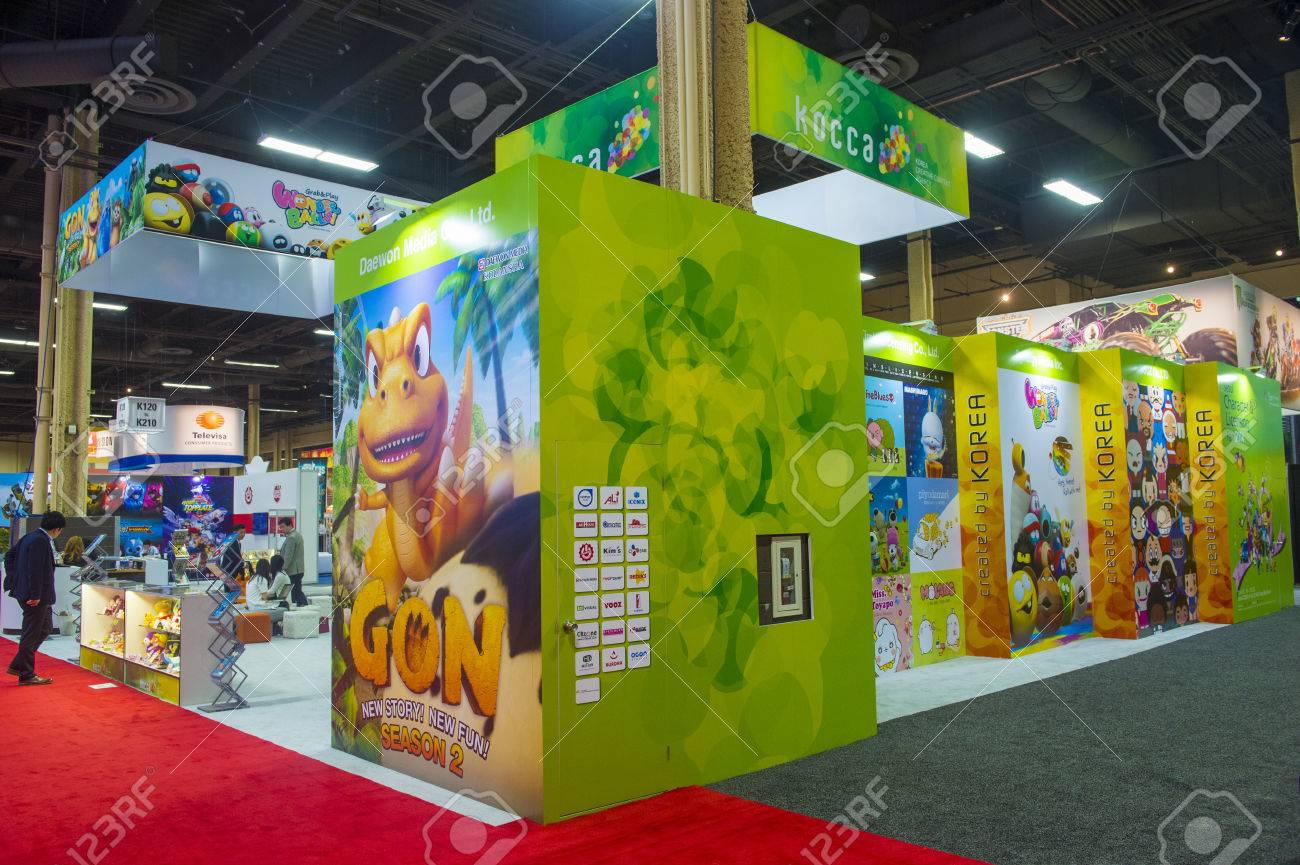 LAS VEGAS - JUNE 17 : The Kocca booth at the Licensing Expo in