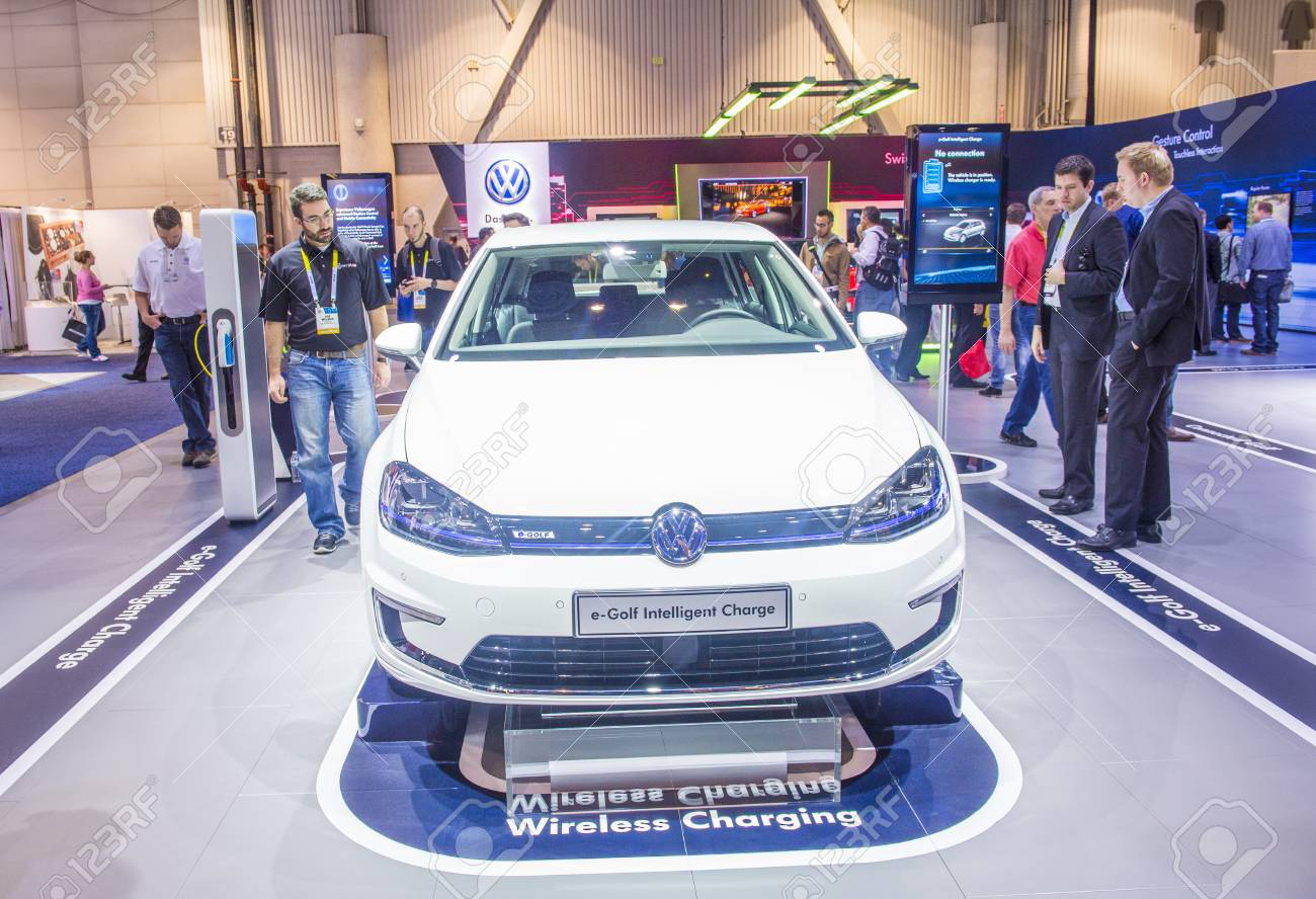 LAS VEGAS JAN The Volkswagen EGolf Electric Car At The - Vw car show las vegas