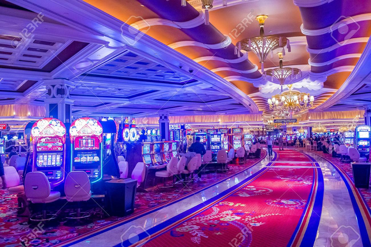 LAS VEGAS - FEB 21 : The interior of Wynn Hotel and casino on February 21 2015 in Las Vegas. The hotel has 2,716 rooms and opened in 2005. - 38255220