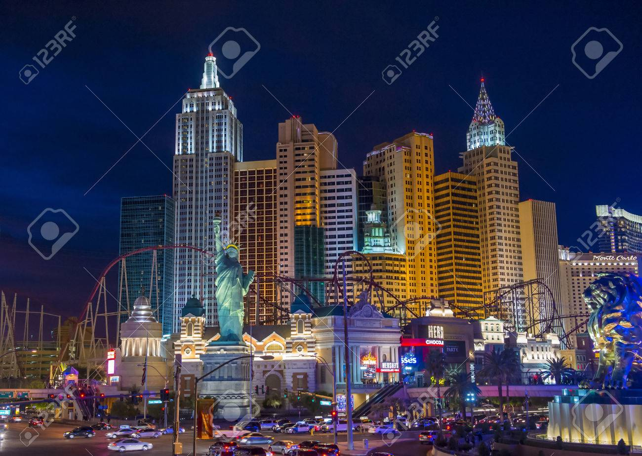 LAS VEGAS - NOV 17 : New York-New York Hotel & Casino in Las Vegas on November 17 2015 , This hotel simulates the real New York City skyline and It was opened in 1997. - 48749206