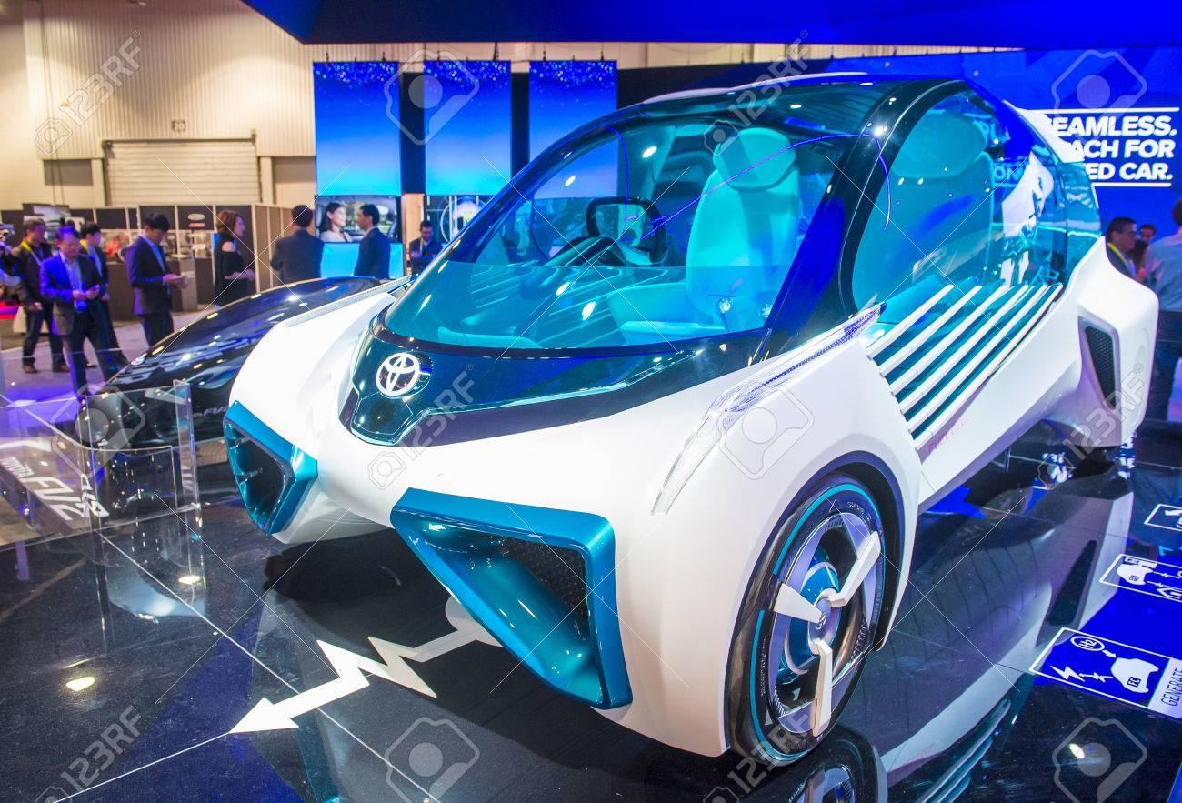 Las vegas jan 08 the toyota fcv plus hydrogen concept car at the ces
