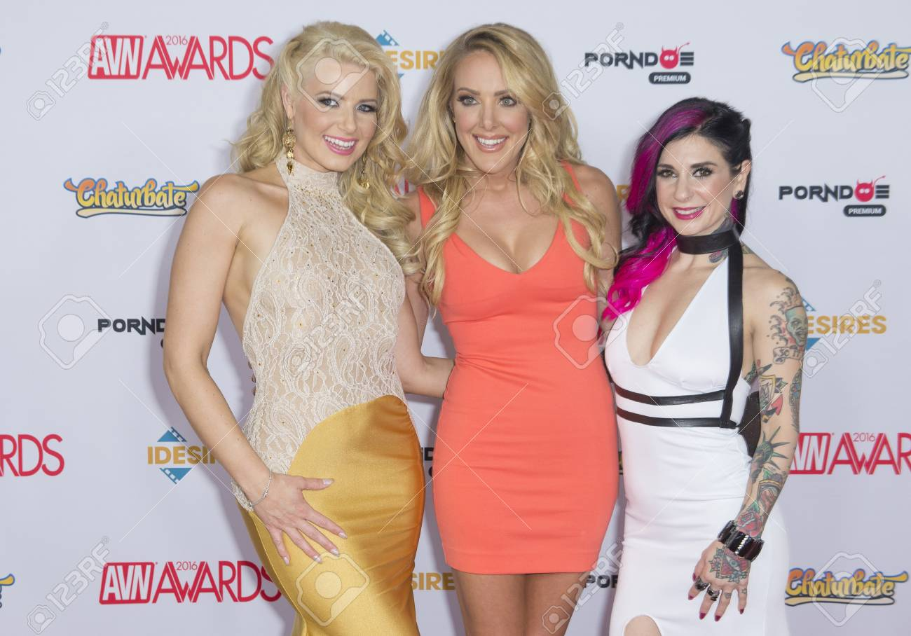Anikka Albrite las vegas - jan 23 : the three co-hosts of the 2016 avn awards..