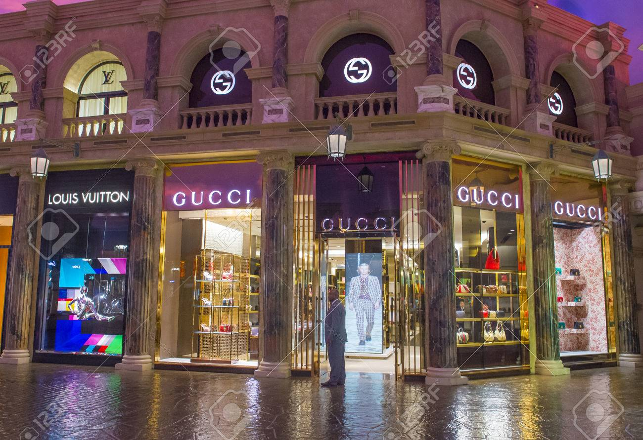 lighting stores in las vegas. LAS VEGAS - APRIL 13 : Exterior Of A Gucci Store In Caesars Palace Hotel Lighting Stores Las Vegas E