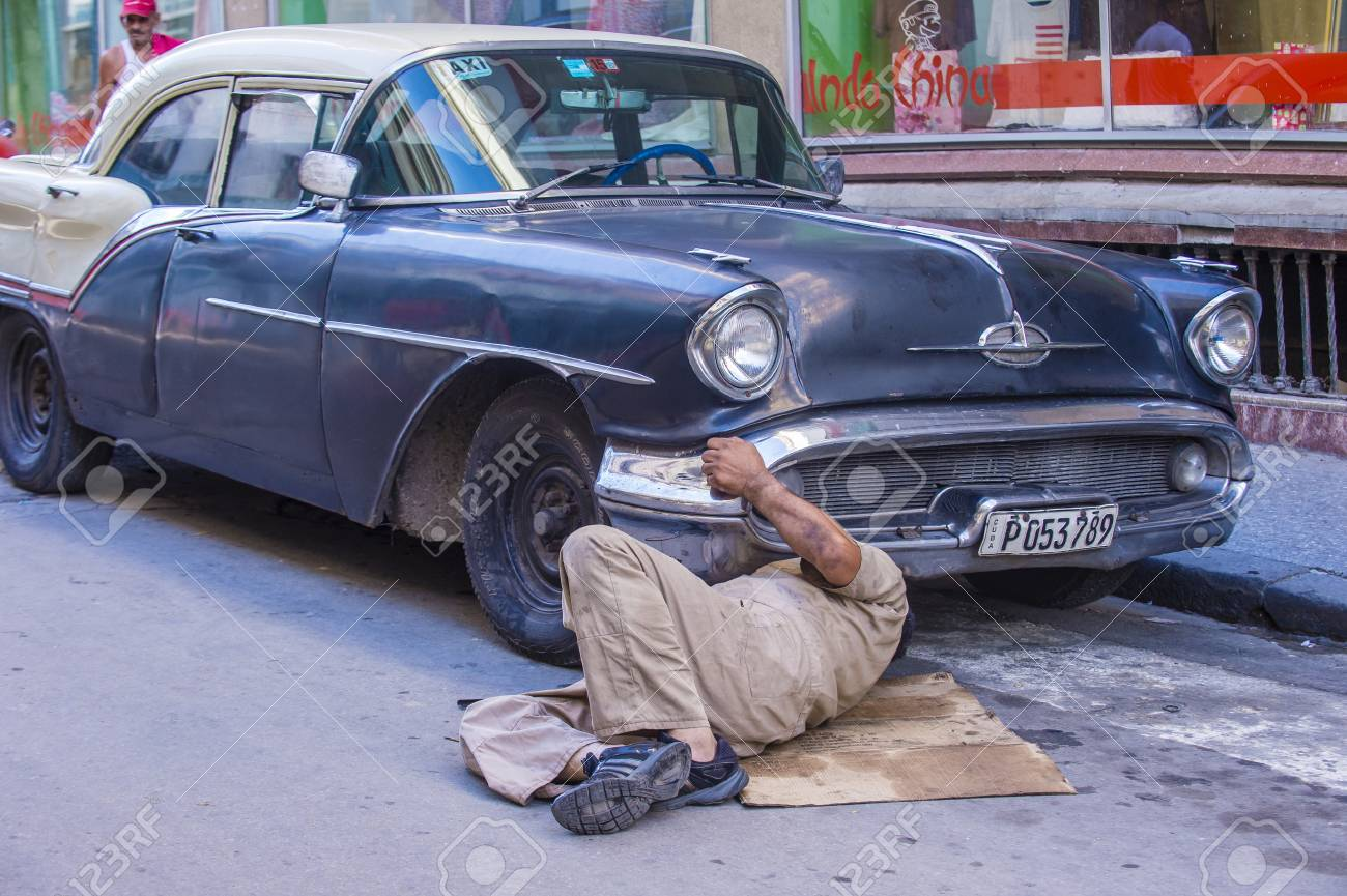 HAVANA, CUBA - JULY 18 : Old Classic American Car On One Of Havana\'s ...