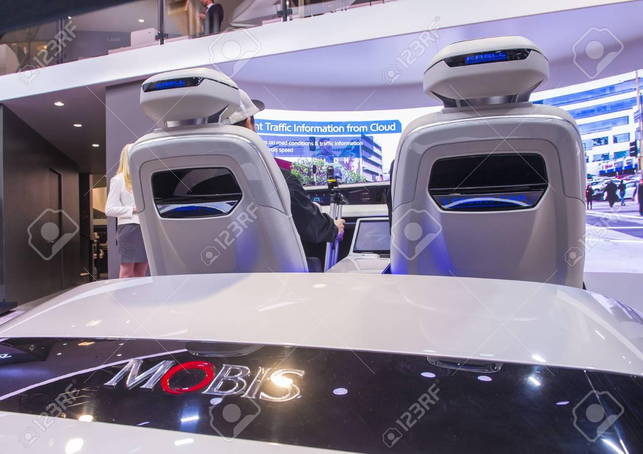 LAS VEGAS - JAN 08 : The Hyundai Mobis Concept car simulator