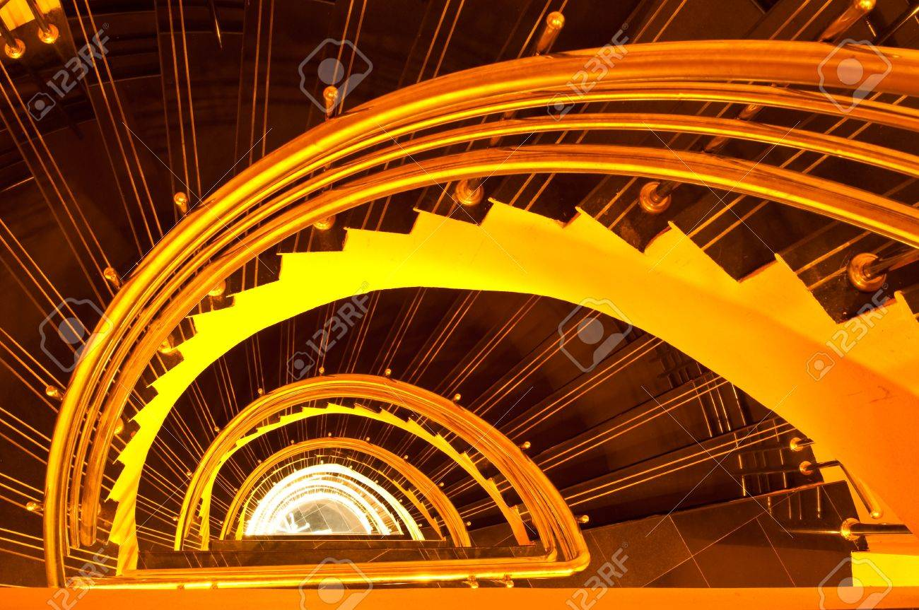 Spiral staircase in the tower, Thailand. Stock Photo - 8607338