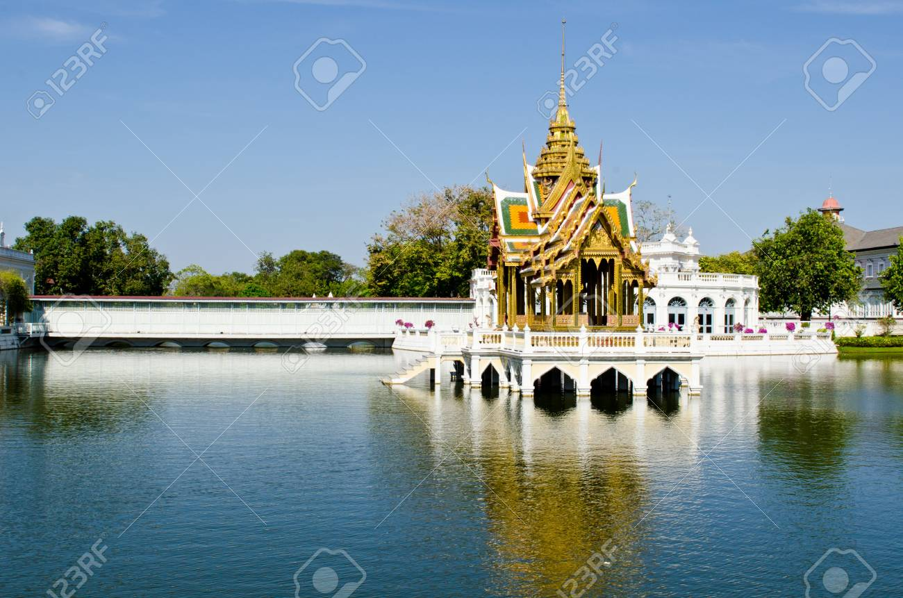 Aisawan-Dhipaya Asana Pavillion at Bang Pa-in Palace, Ayuthaya province, Thailand. Stock Photo - 12461296