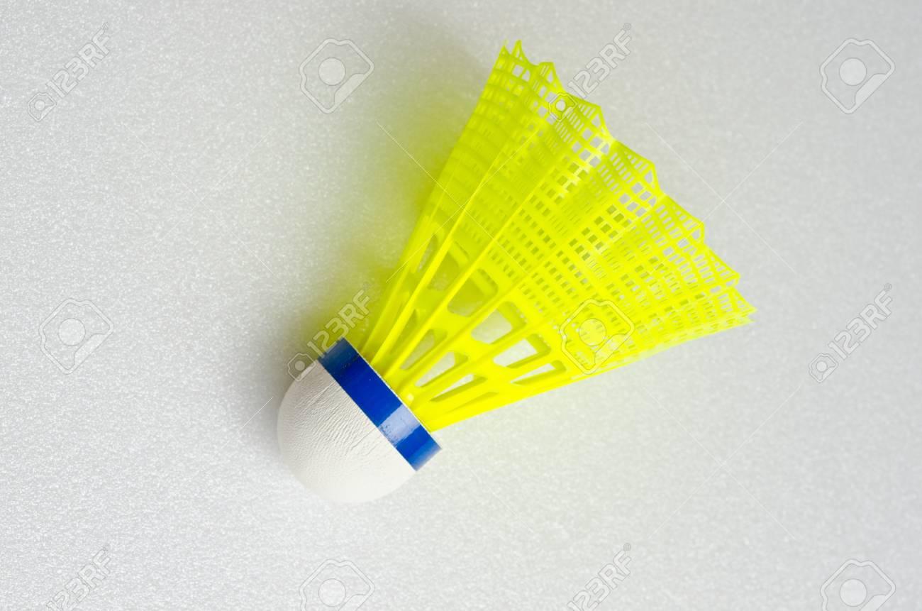 Shuttlecocks for badminton on white screen, Thailand Stock Photo - 15575971
