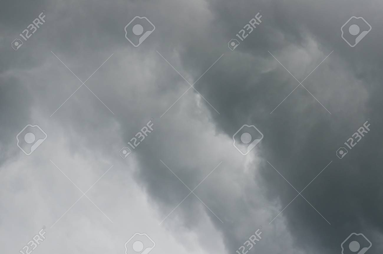 Black rainy cloud on white sky, Thailand. Stock Photo - 16560666