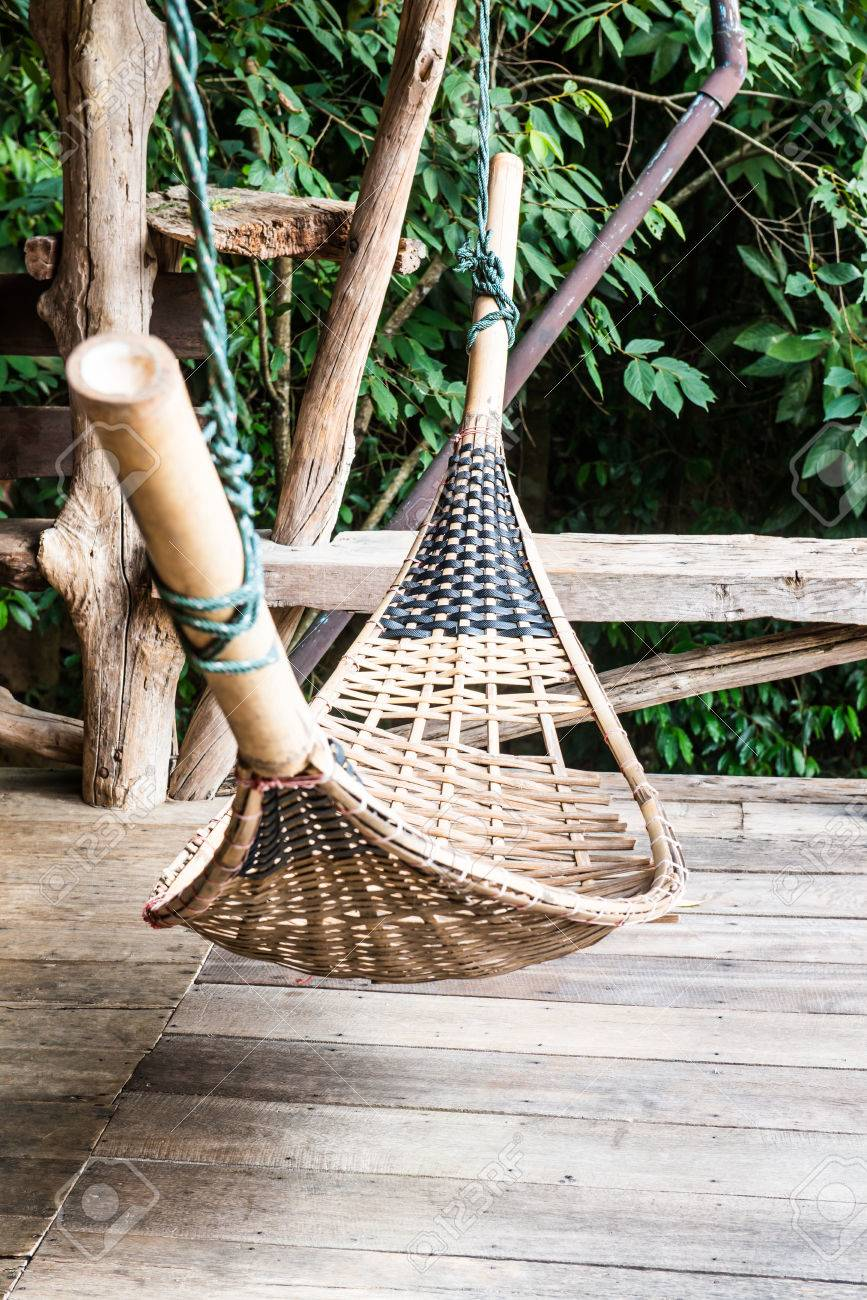 bamboo hammock in thai country thailand  stock photo   42654679 bamboo hammock in thai country thailand  stock photo picture and      rh   123rf