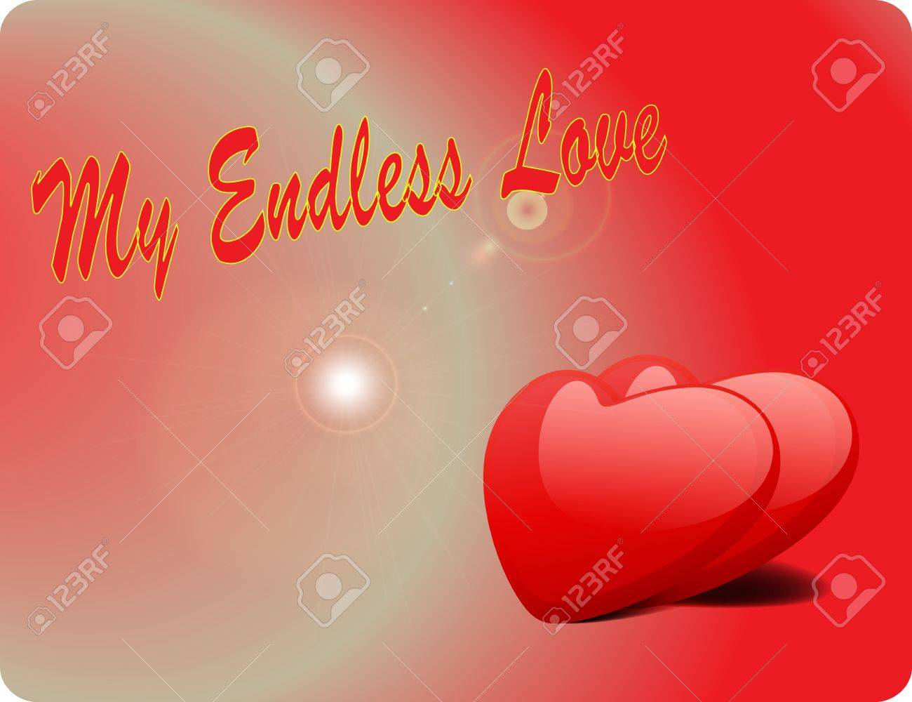 Valentine Love Card - My Endless Love Stock Vector - 17005327