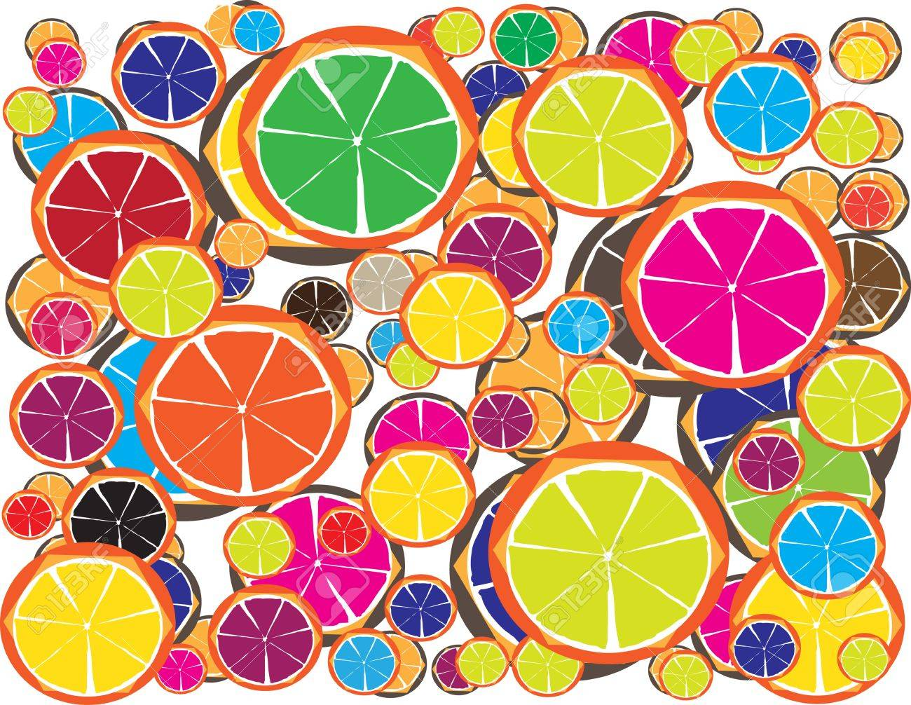 Colorful Lemon Juice for Diet with Your Fitness Style II Stock Vector - 17062505