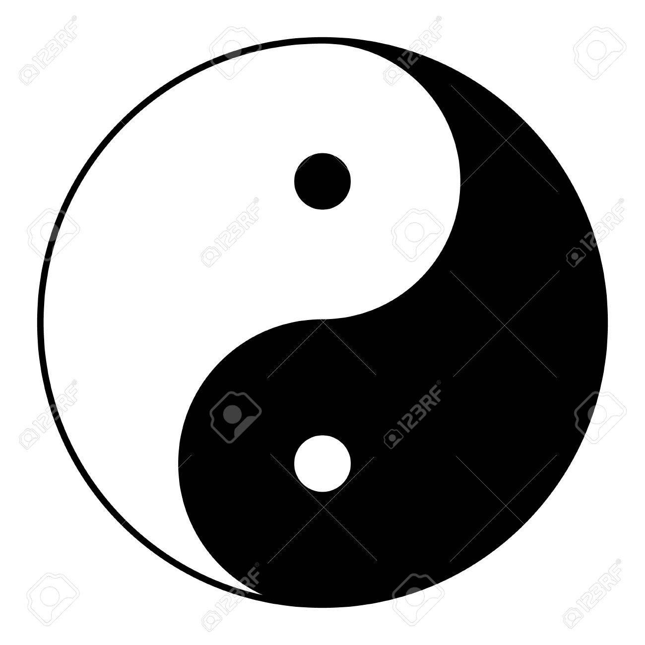 Ying yang symbol of harmony and balance - 73787096