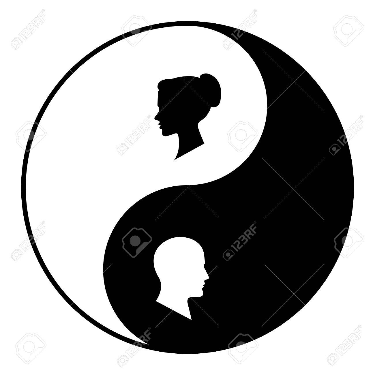 Yin yang symbol of harmony and balance between male and female yin yang symbol of harmony and balance between male and female stock vector 77158052 biocorpaavc
