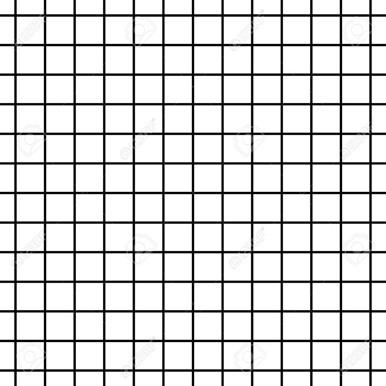 Seamless Black And White Cell Grid Striped Isolated On White Royalty Free Cliparts Vectors And Stock Illustration Image 129615145