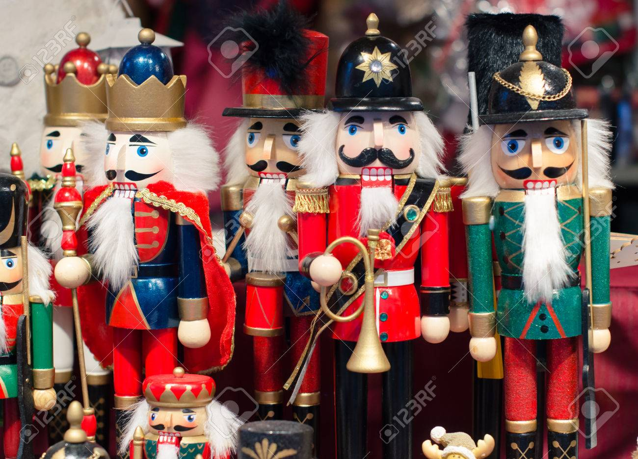 Christmas Market In Details. Christmas Toy - Wooden Nutcrackers ...