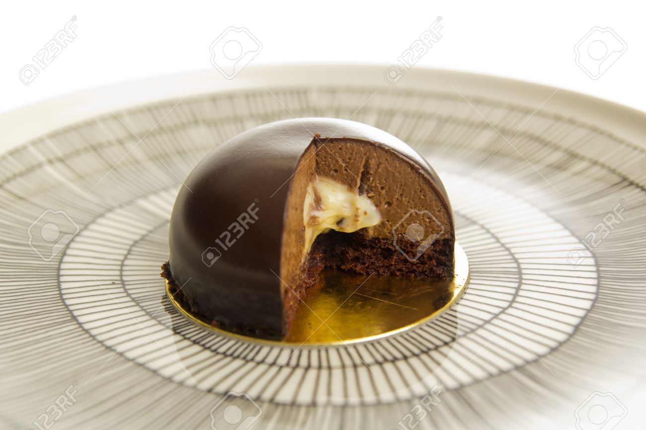 Chocolate Dome Cake Stock Photo Picture And Royalty Free Image
