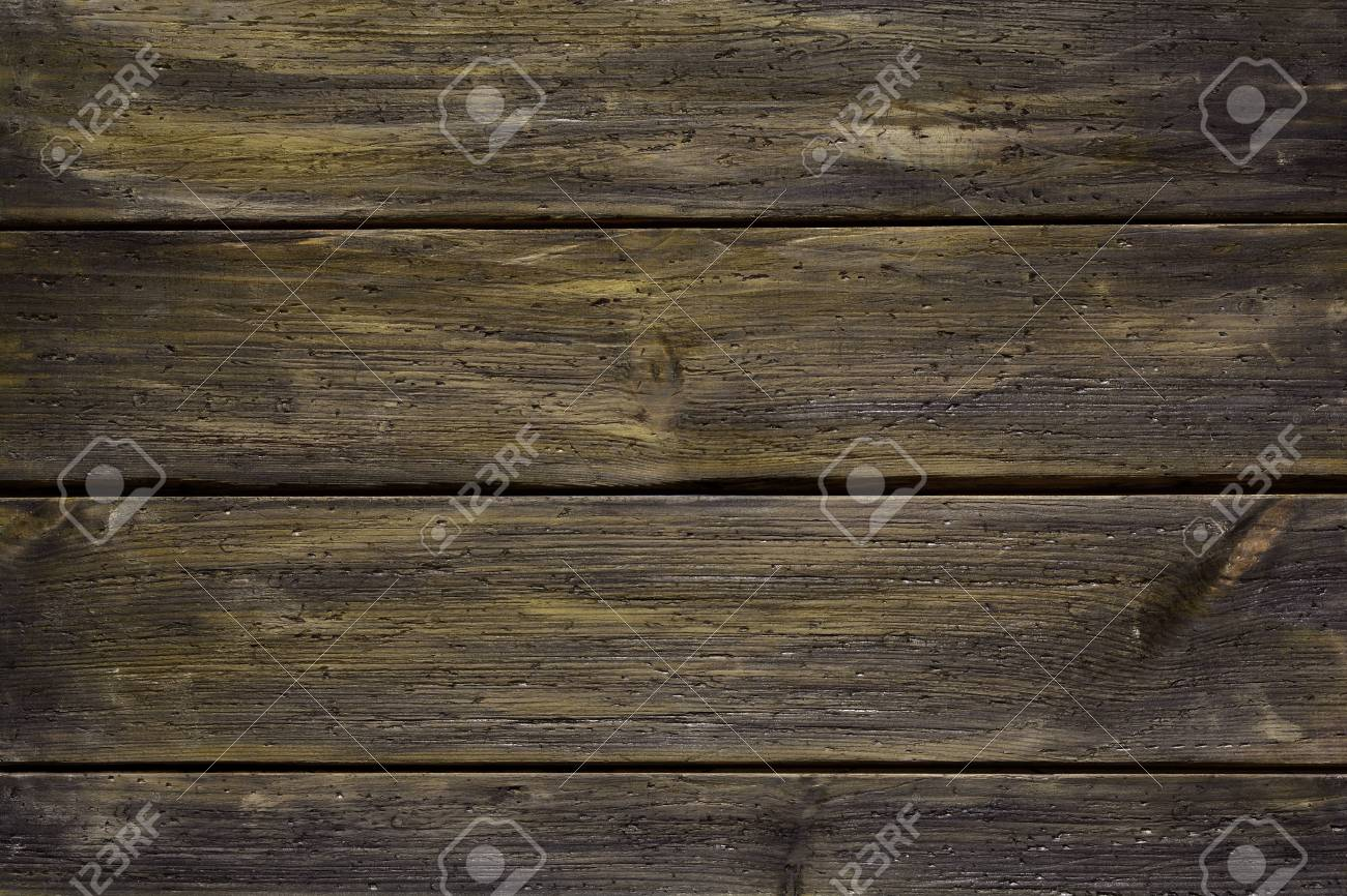 Texture Of Old And Dark Wood Panel Background Stock Photo