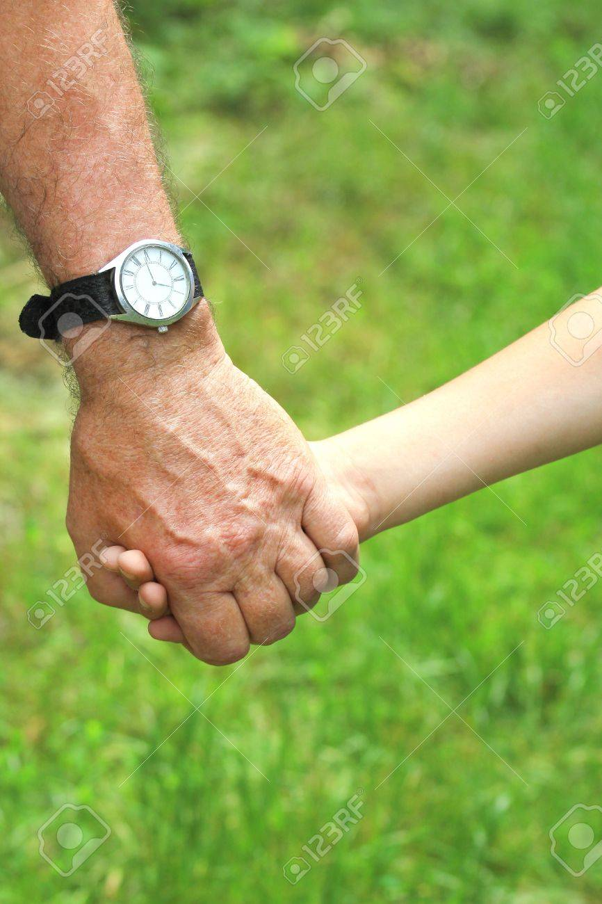 hand of a parent and child Stock Photo - 14098895