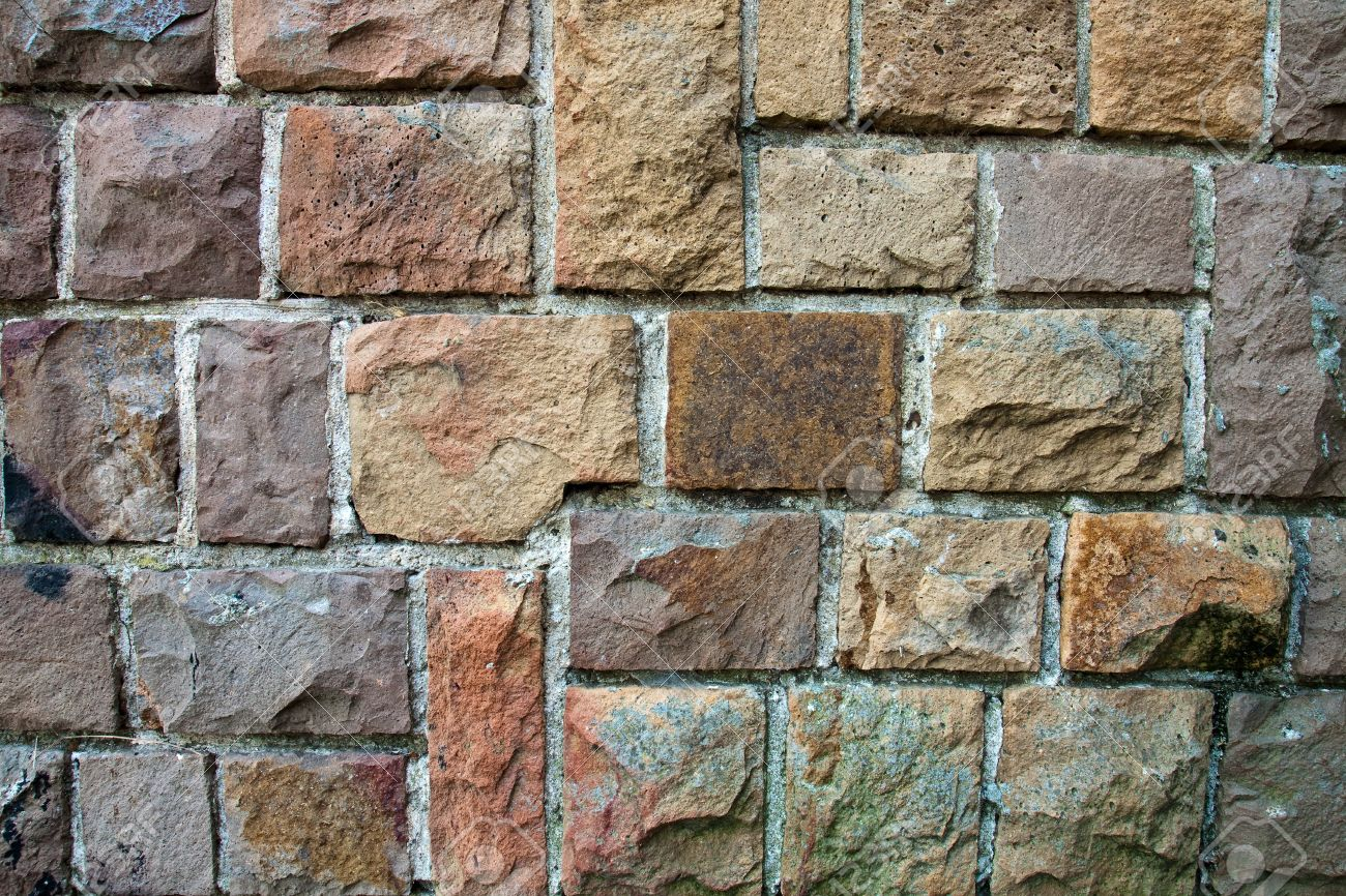 Attractive Decorative Exterior Wall Covering Resembling A Stone Wall Stock  Photo 14236623 Part 15
