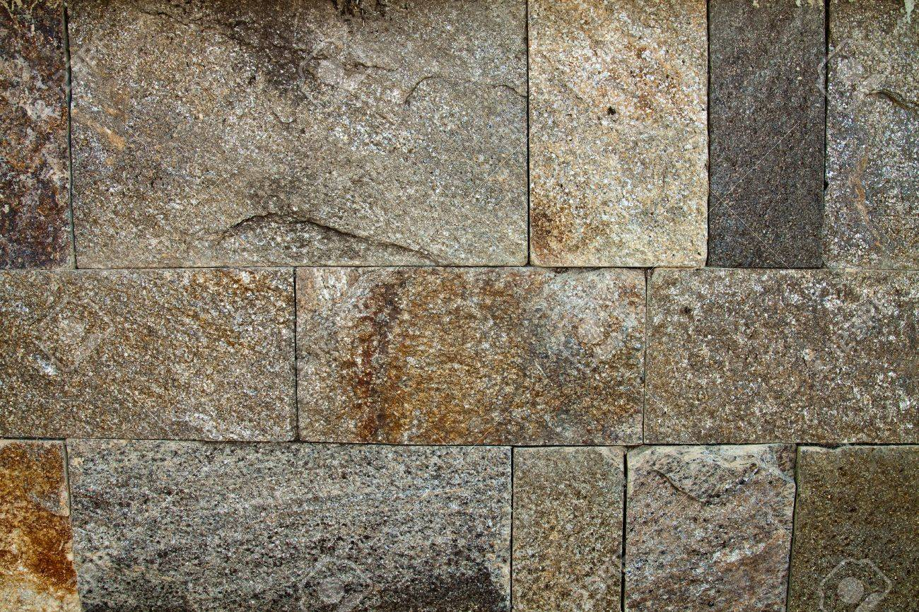 Decorative Exterior Wall Covering Resembling A Stone Wall Stock Photo    14236634