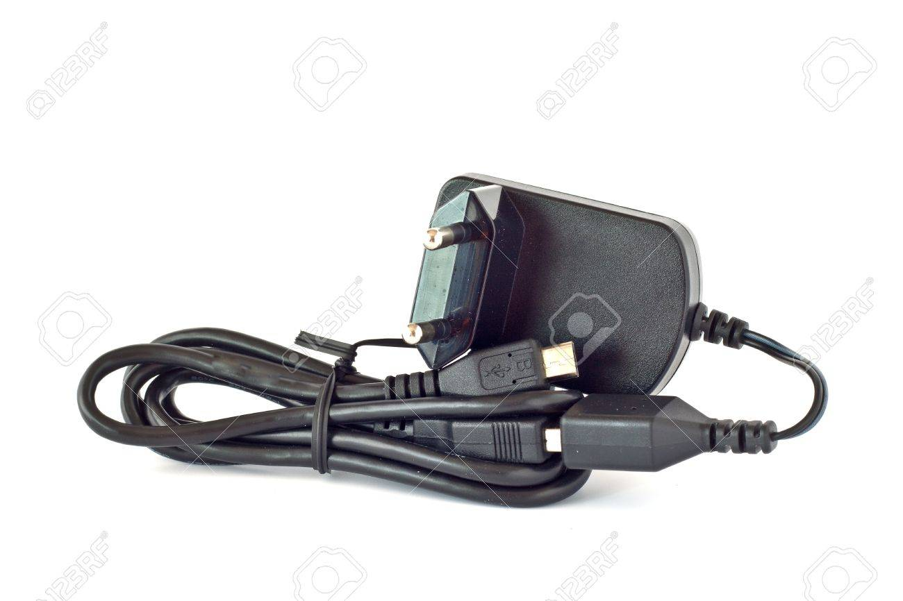 Multifunctional USB charger for mobile phone with European plug Stock Photo - 14638141