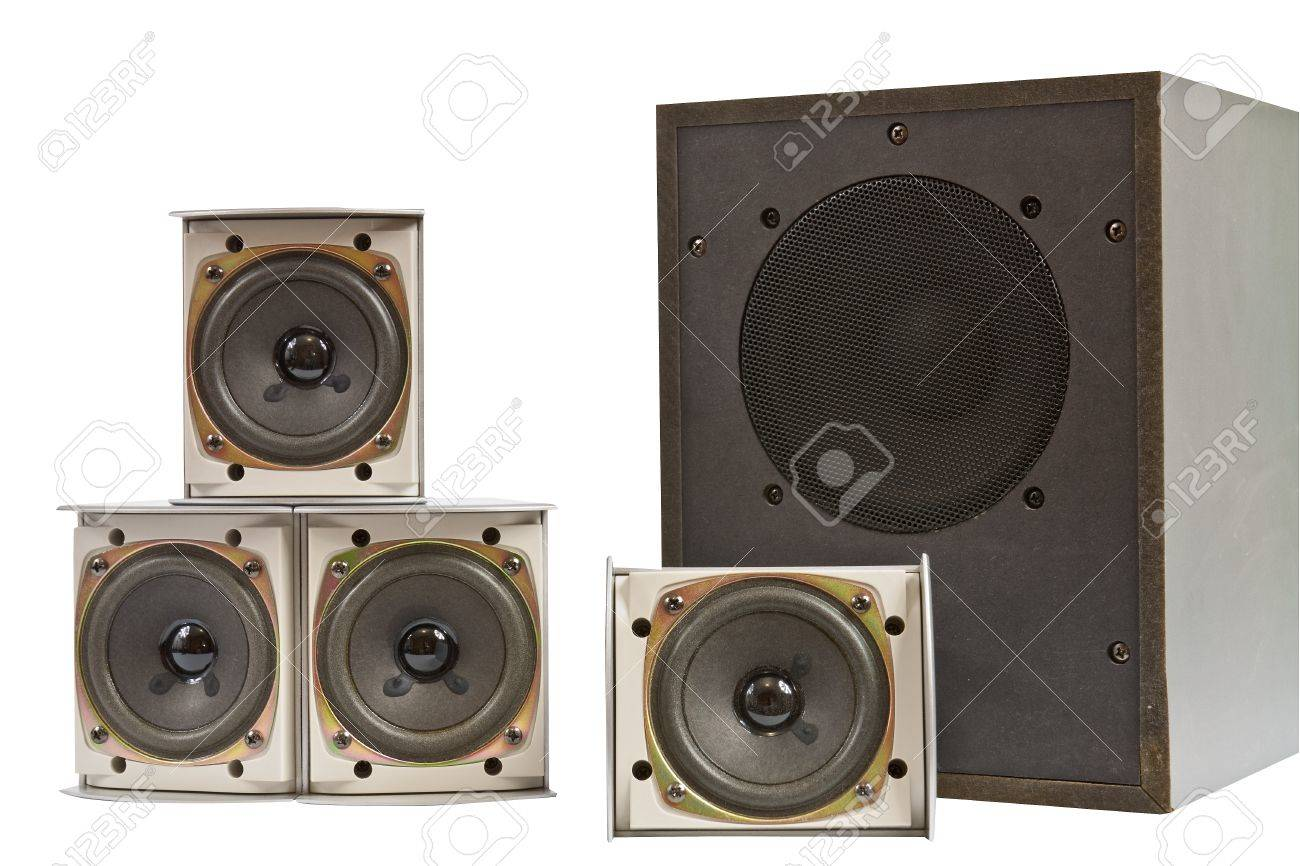 Hi fi home speakers of the sound system Stock Photo - 16702656