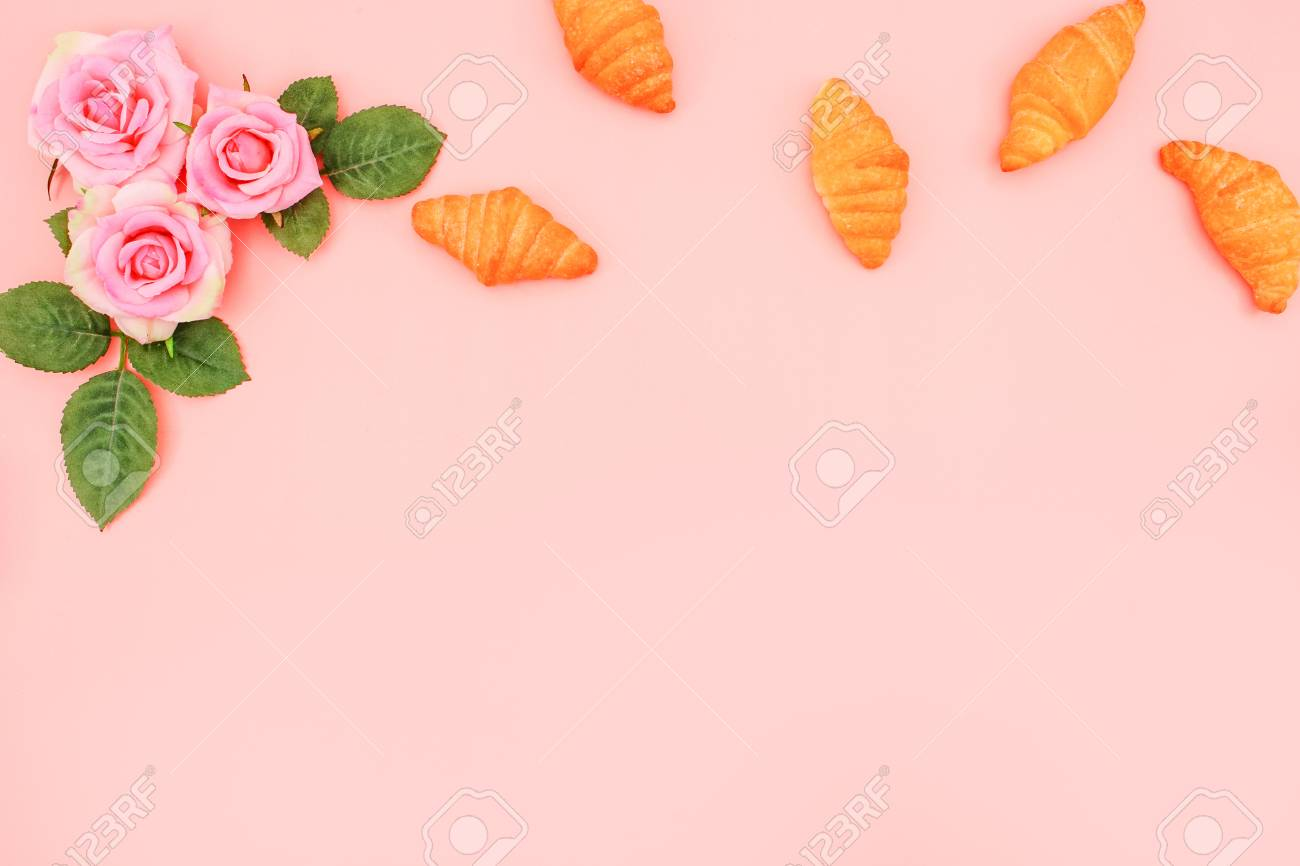 Menu background rose