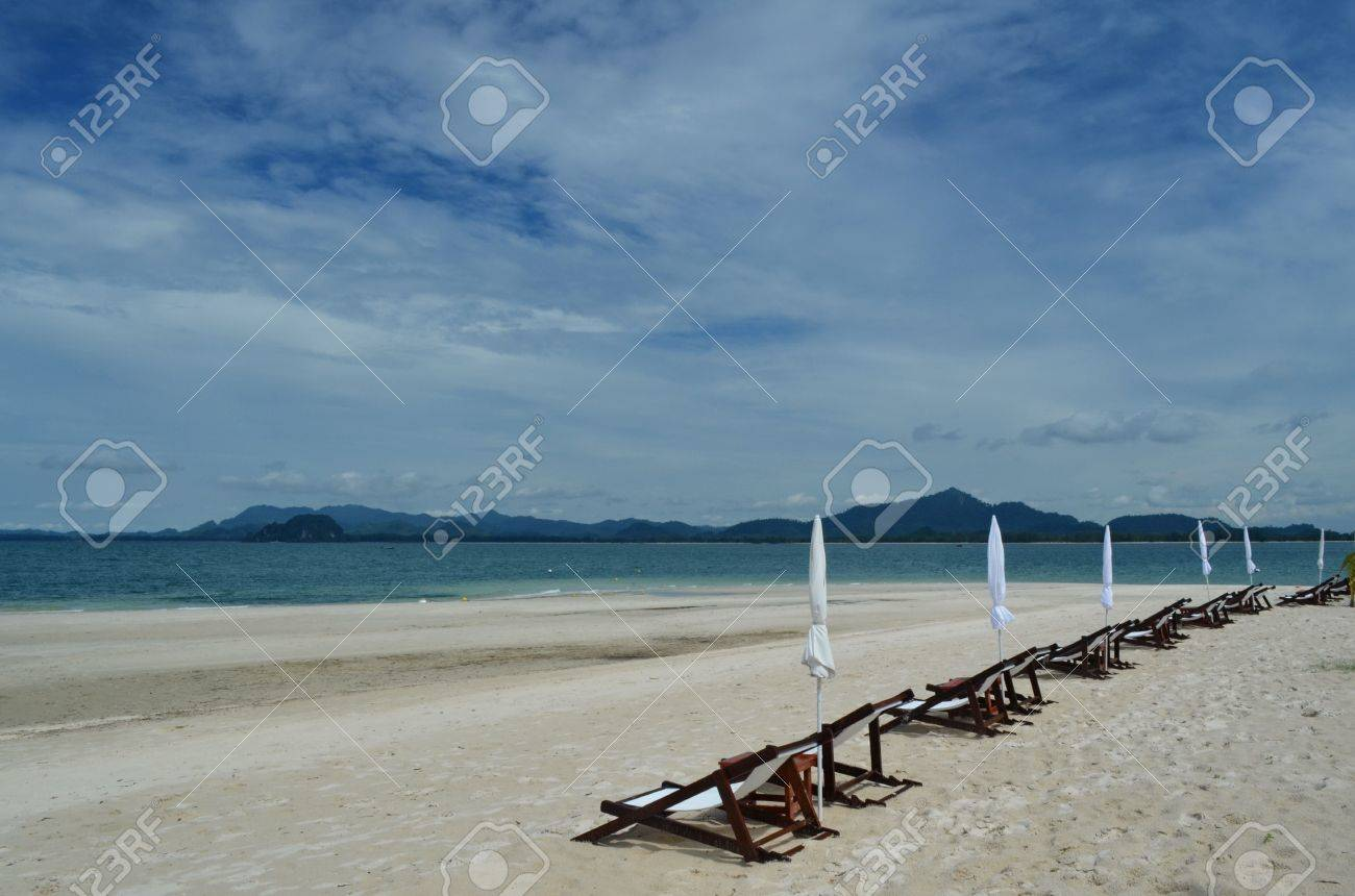 Sun Bath Benches At Muk Island Stock Photo, Picture And Royalty Free ...