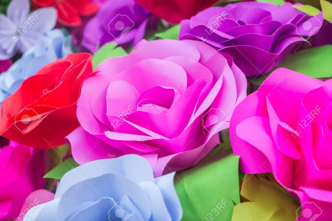 Handmade Rose Paper Backgroundspaper Flower Backdrop Wedding