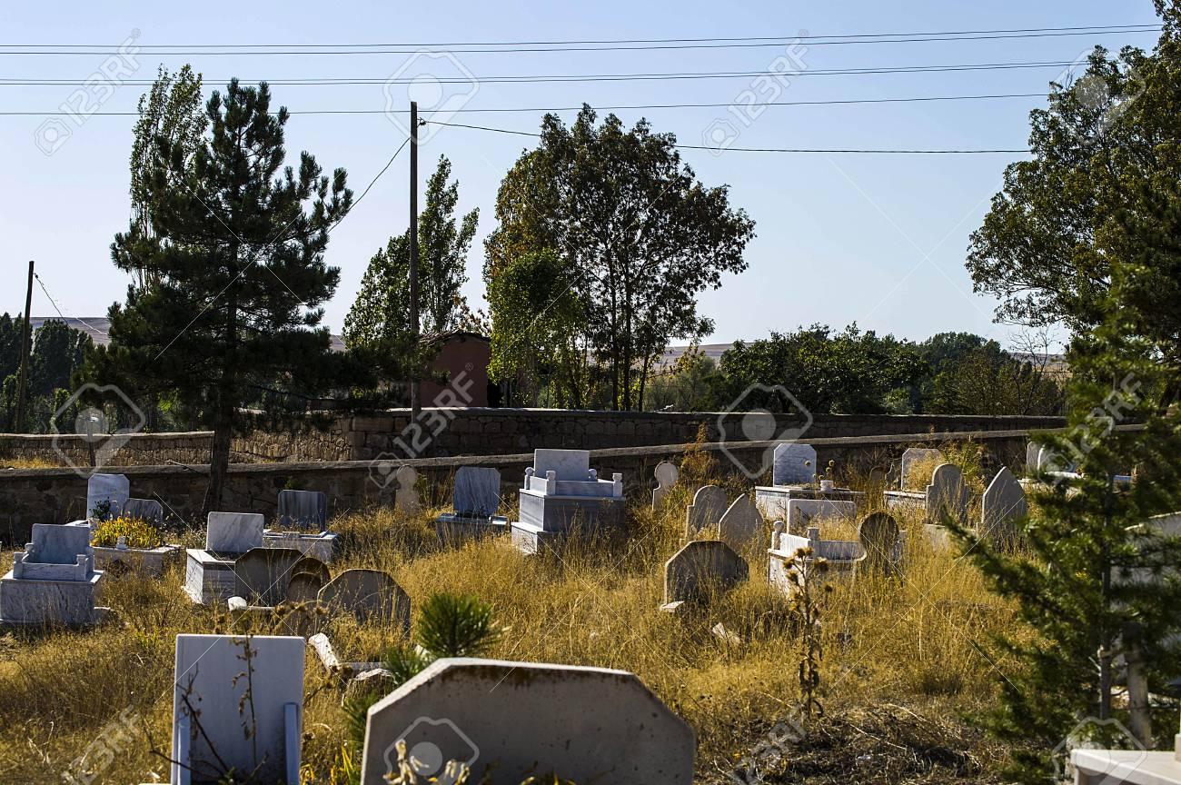 Muslim graveyard, graveyard paintings, tombstones and the Turkish