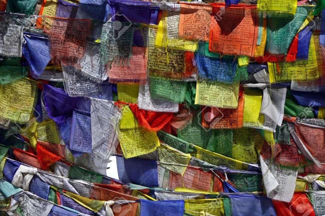 buddhist prayer flags Stock Photo - 6620765