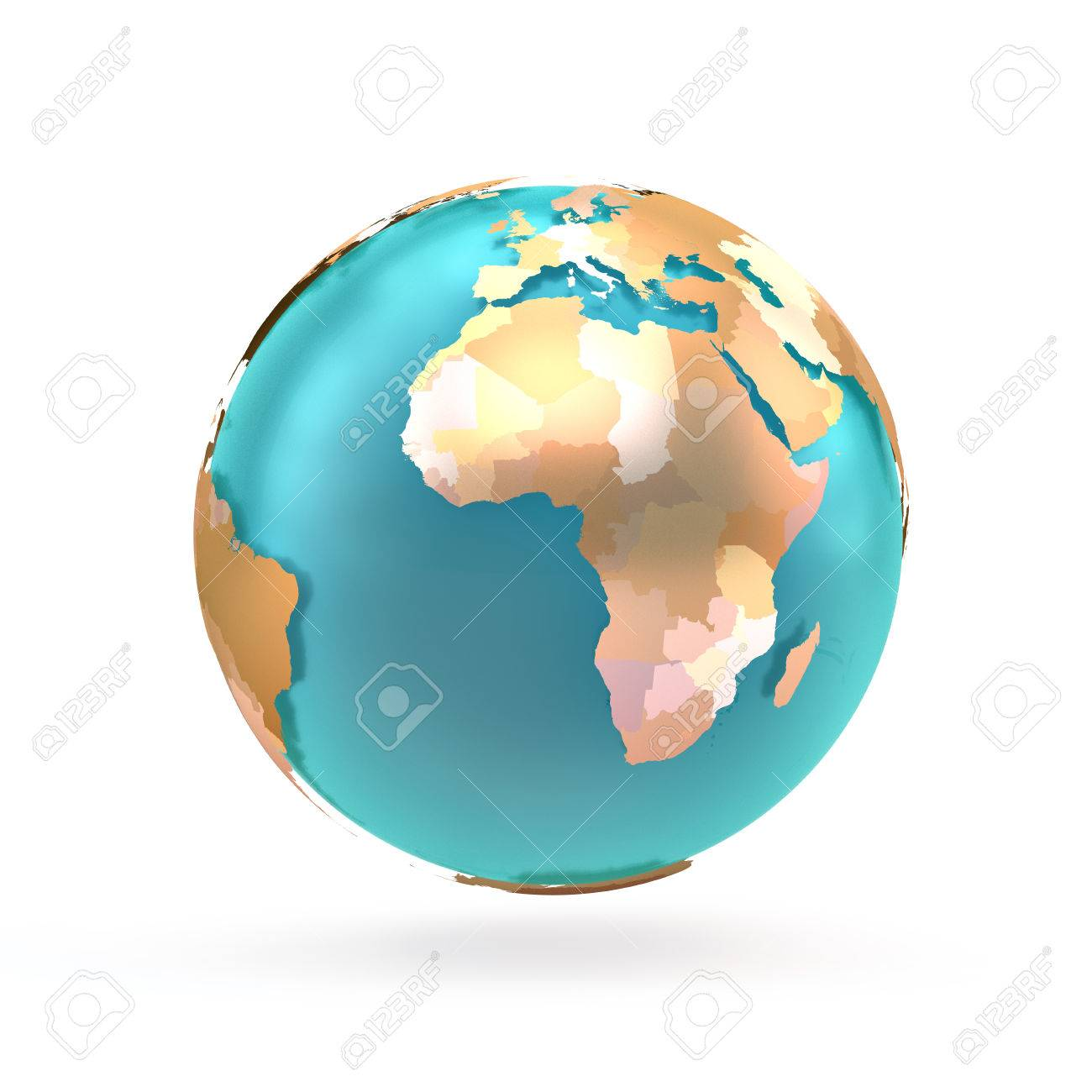D Globe Map Of The World Continents And Countries Globe With - Globe map with countries