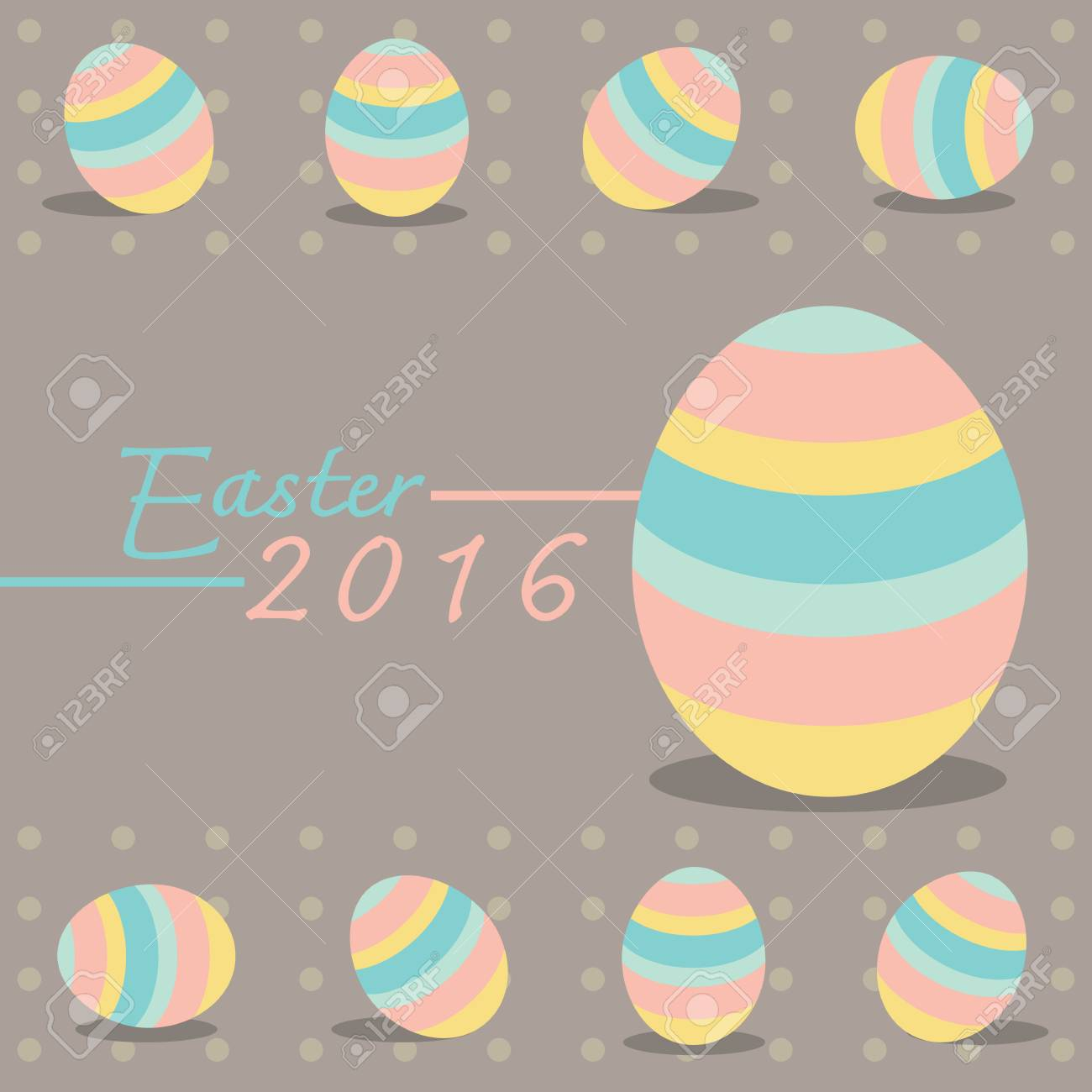 Easter Seamless Pattern With Colorful Eggs And Flowers Perfect