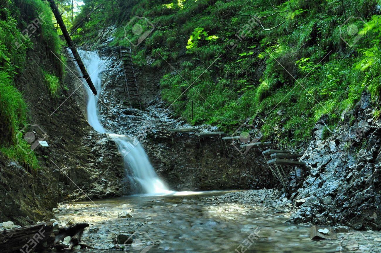 nice path through slovak paradise Stock Photo - 7594190