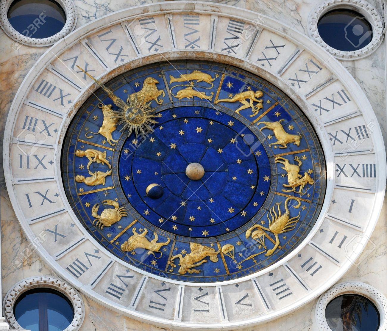 orologio con segni zodiacali