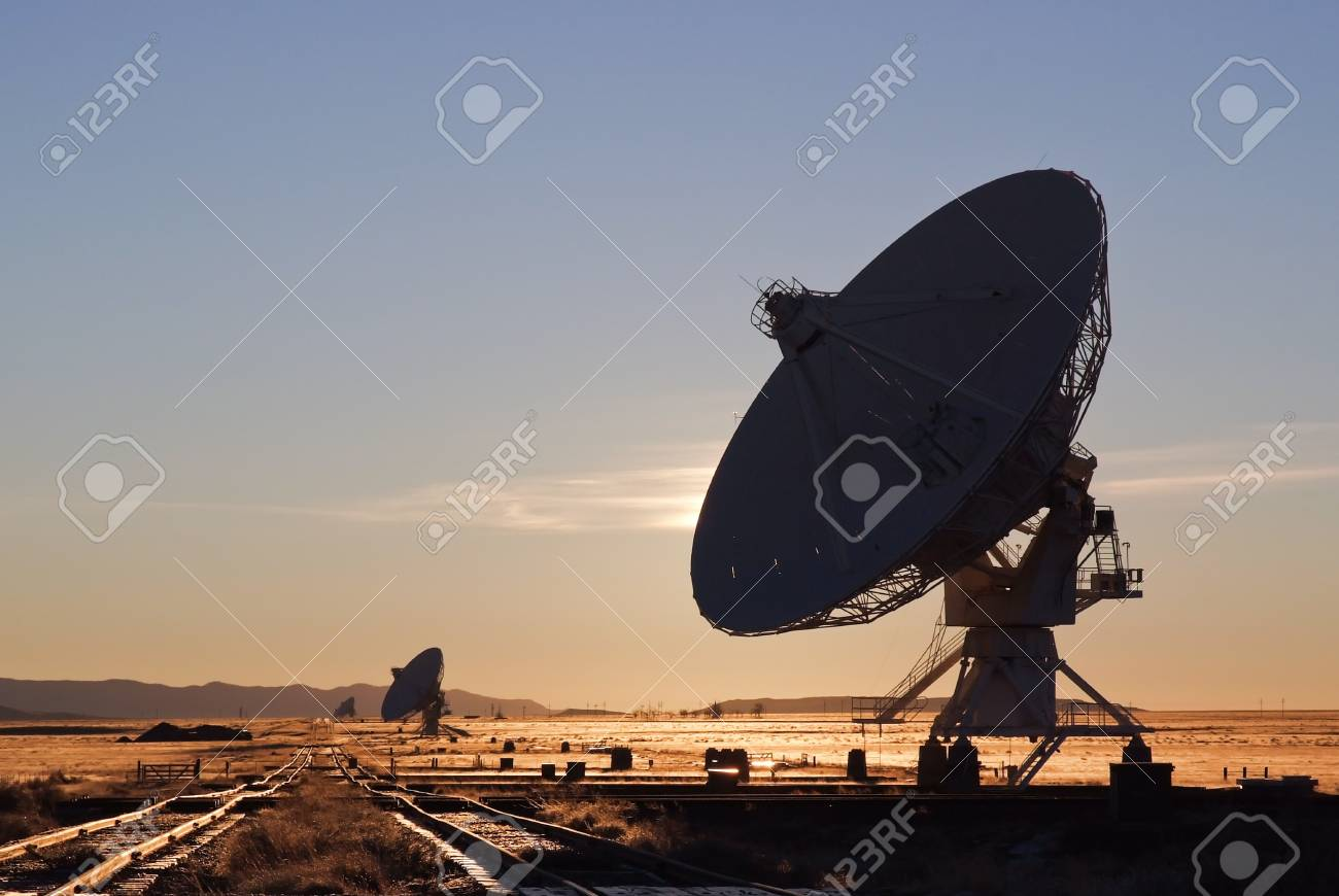VLA radio telescope in New Mexico USA Stock Photo - 13699466