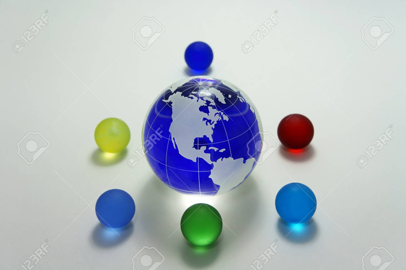 Globe of the blue glass. Image that appeals for environmental protection. Stock Photo - 11692559