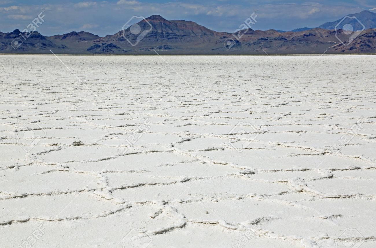 Wide Landscape Of Great Salt Lake Desert Utah Stock Photo Picture